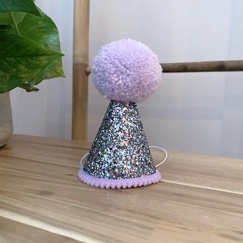Glitter Party Hat | Glitter Lilac
