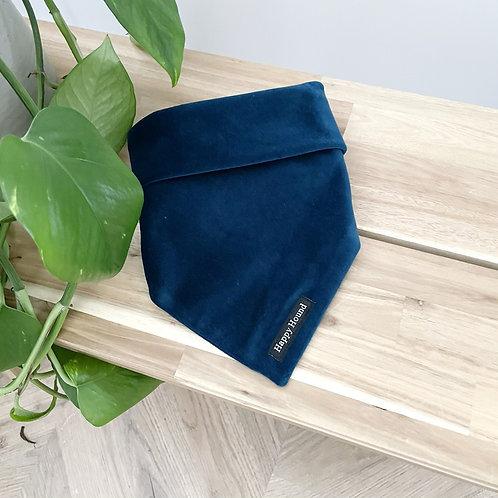 Handmade Velvet Tie On Bandana | Teal