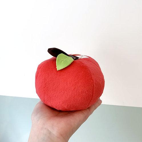 Apple Plush Dog Toy