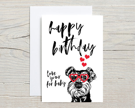 Card   Happy Birthday From Your Fur Baby