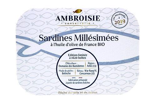 Sardines Millésimées 2019 à l'huile d'olive de France Bio
