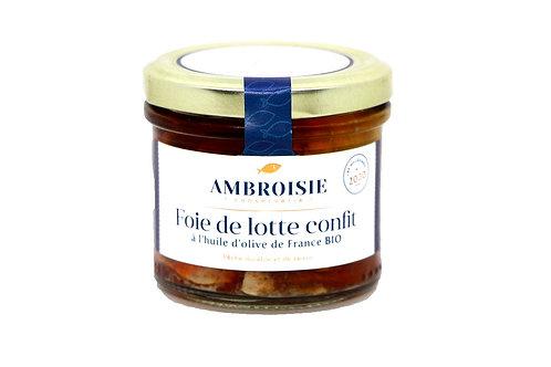 Foie de lotte confit à l'huile d'olive de France Bio