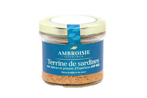 Terrine de Sardines aux épices et piment d'Espelette AOP Bio