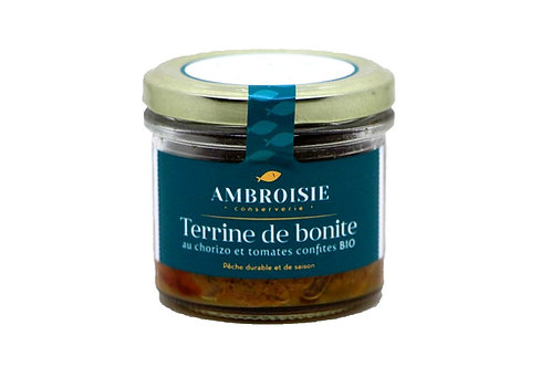 Terrine de Bonite au chorizo et tomates confites Bio