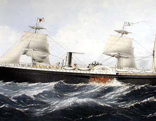 Pacific Mail Steamship c.1860