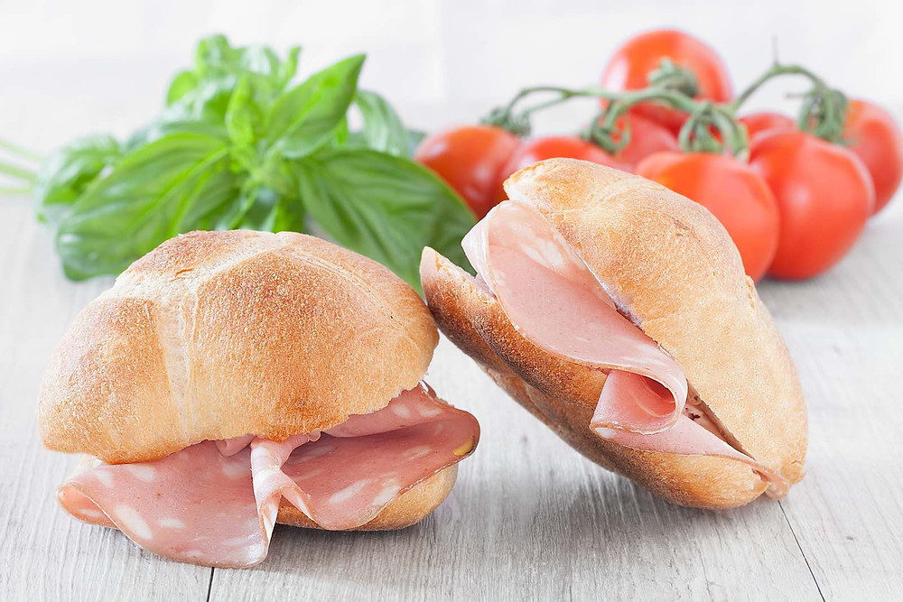Mortadella sandwiches are cheap, quick and delicious.