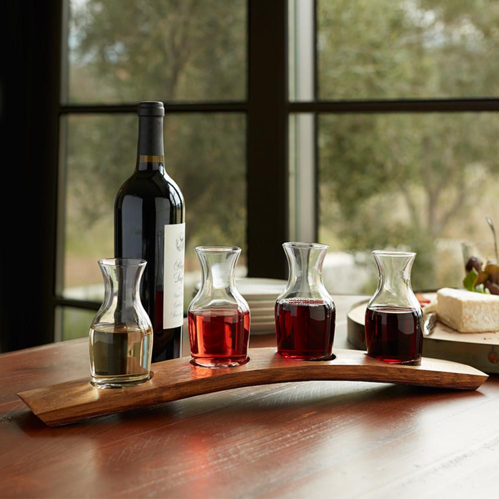 Wine tasting flight for the wine loving entertainer. Host a wine tasting party!