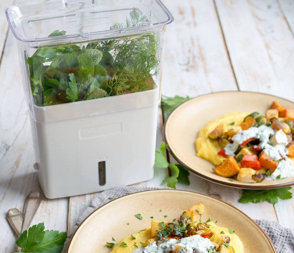 Herb keepers are great to help reduce waste in the kitchen.