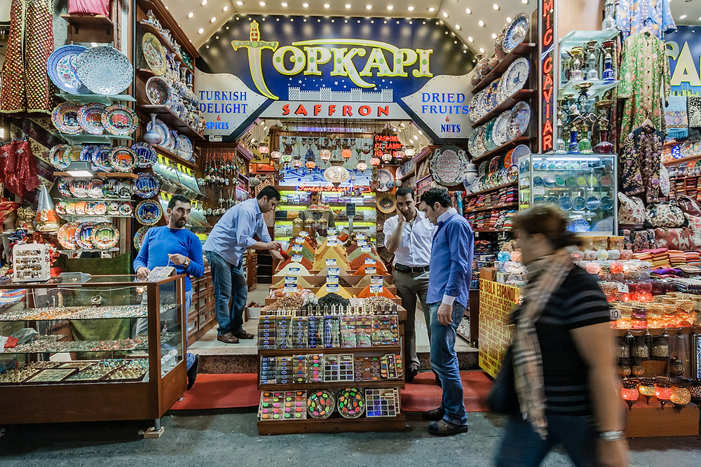 When travelling make sure to visit a local market like the Grand Bazaar in Istanbul