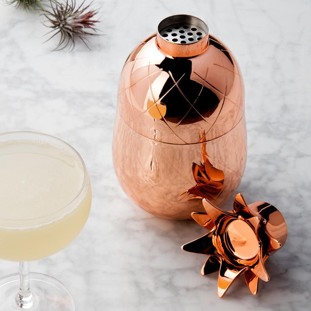 The pineapple is a sign of hospitality. This pineapple cocktail shaker is perfect for the mom who loves to entertain.
