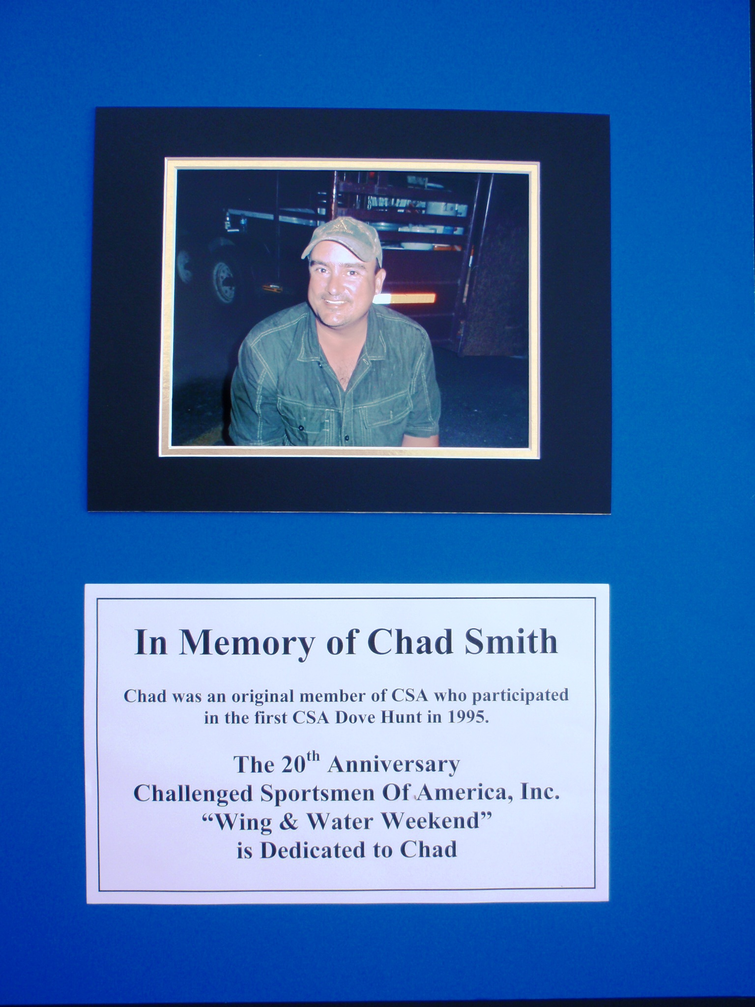 In Memory of Chad Smith