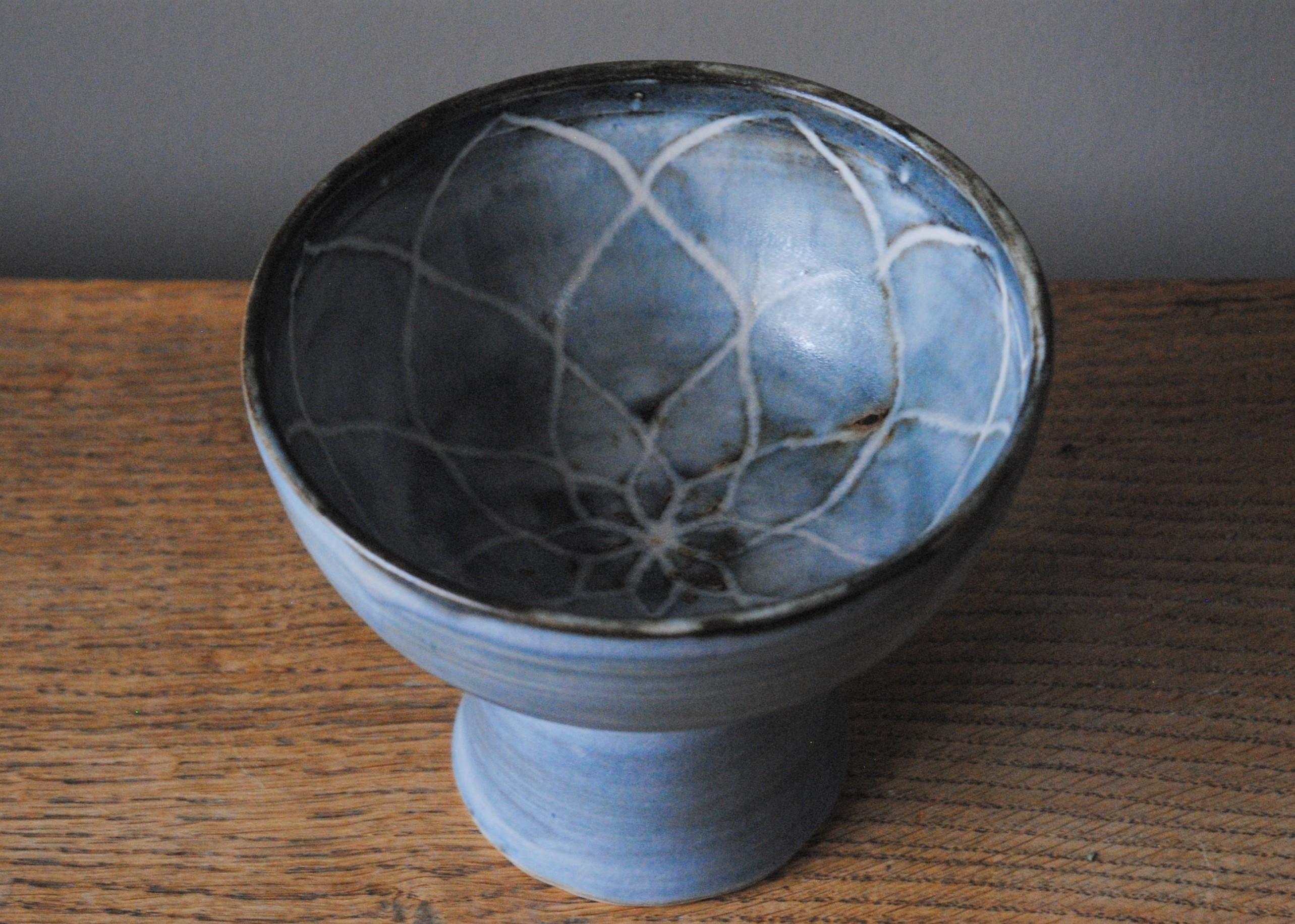 Lotus Pedestal Bowl - inside