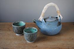 Reed handle teapot set - large 2