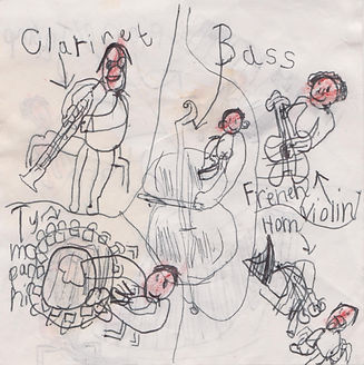 a drawing of the orchestra by one of our younger audience members