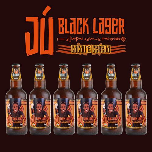 JU BLACK LAGER COM CACAU E CEREJA  ( KIT 6 GARRAFAS 500 ML)