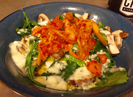Spinach & Eggs 2: Now with Kimchi!