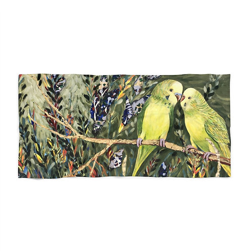 Buddy Budgies- Beach Towel