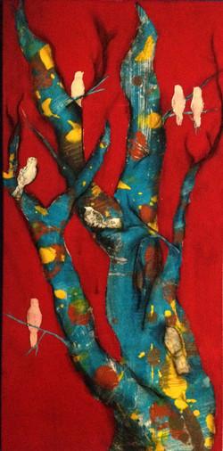 Red Birds Victoria Velozo2015 Oil paint o