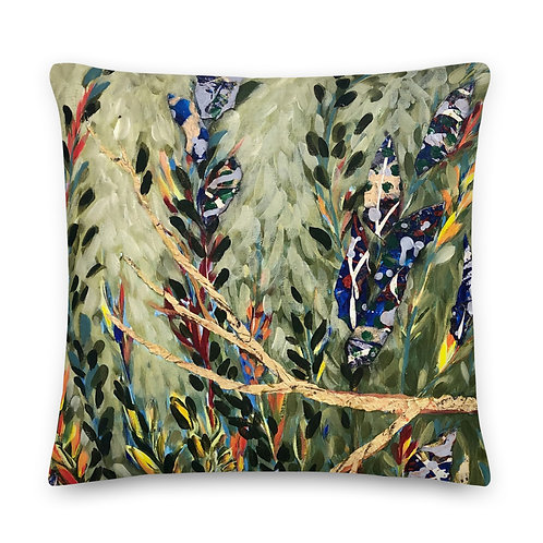 Budgie Fern- Premium Pillow includes insert