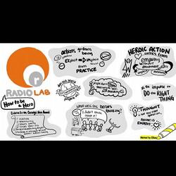 Radio Lab Podcast Sketchnote