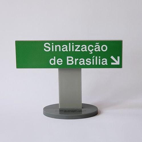 Placa de Verde Sinalização de Brasília