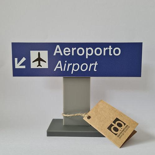 Placa de sinalização Aeroporto