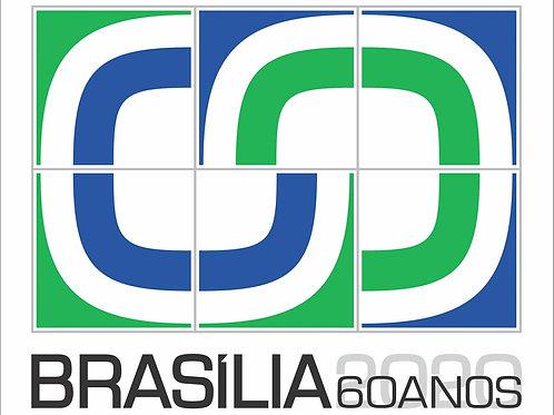 Azulejo comemorativo 60 anos de Brasília