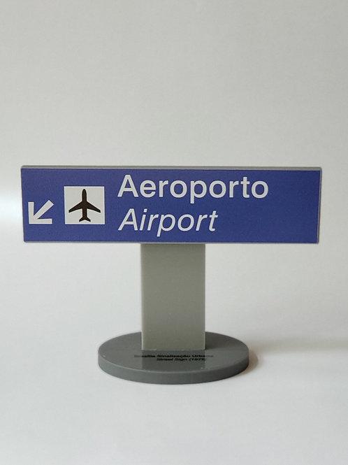 Placa de Sinalização Horizontal Aeroporto