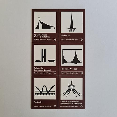 Imãs pictogramas de Brasília