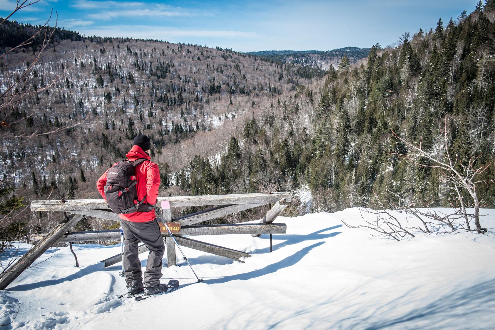 En hiver au parc régional des sept chutes