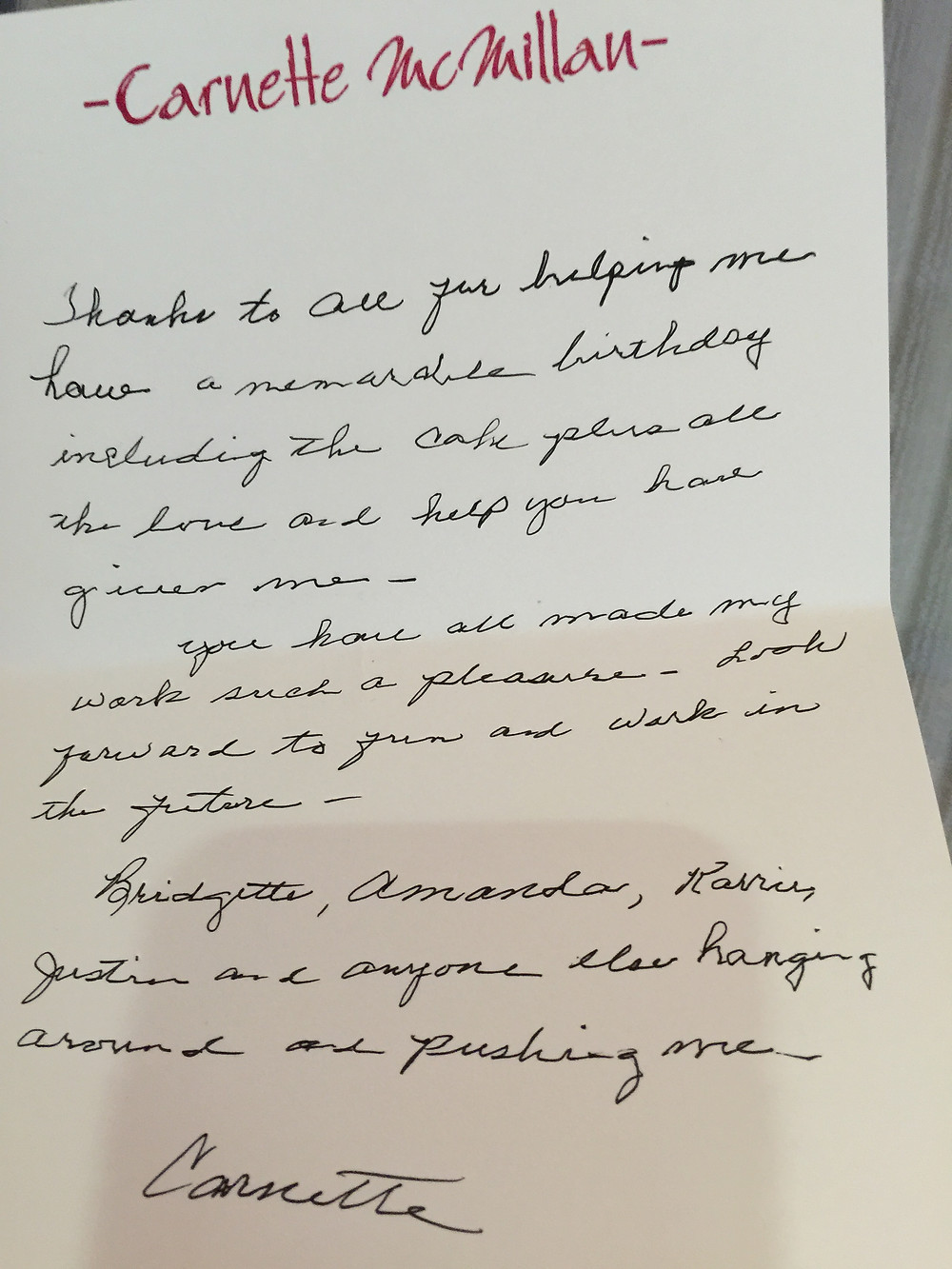 From a patient at Brookdale Clinton