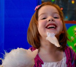 Young girl with cotton candy