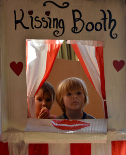 Kids kissing booth