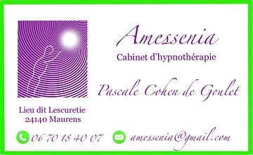 Amessenia Cabinet Hypnose Bergerac