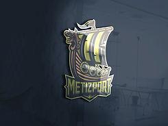 3d glass window logo mockup - Metizport.