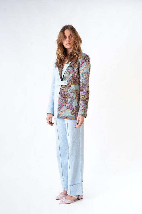The Niçoise vest 1.0 blue (long)