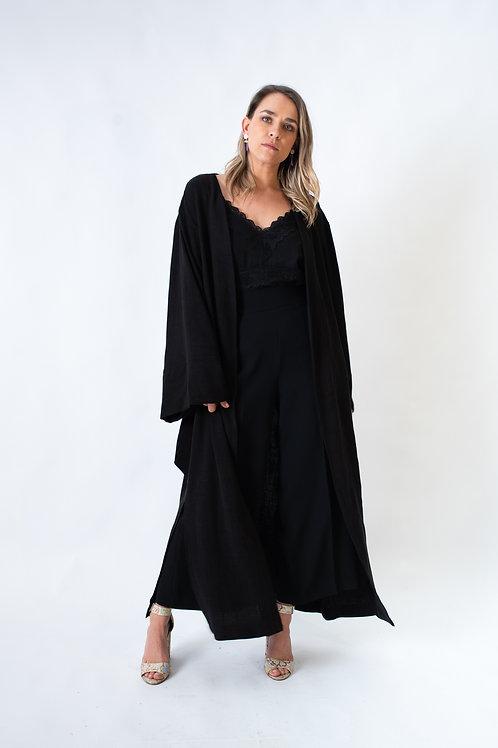 Villa Longa kimono Black