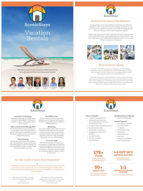 Scenic Stays New Owner Packet Template