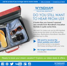 Wyndham Vacation Rentals Email Blast