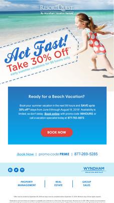 ResortQuest Email Blast