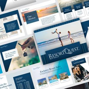 ResortQuest Real Estate Professional Presentation Template Design