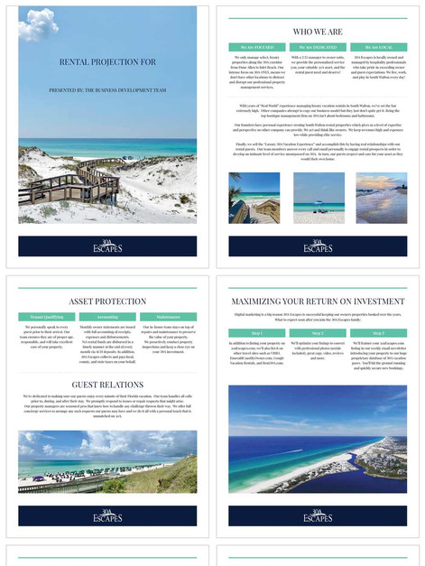 30A Escapes New Owner Packet Template