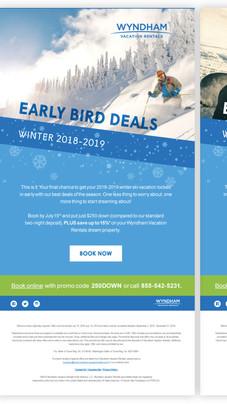Wyndham Vacation Rentals Email Blast Campaign