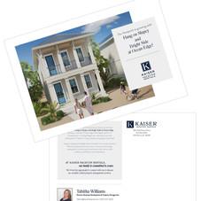 Kaiser Vacation Rentals Business Development Postcard Campaign