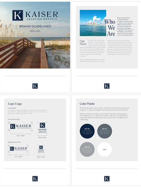 Kaiser Vacation Rentals Brand Guidelines