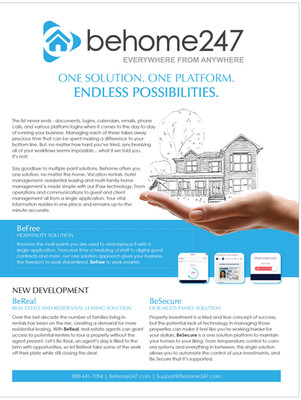 BeHome 247 Product Flyer