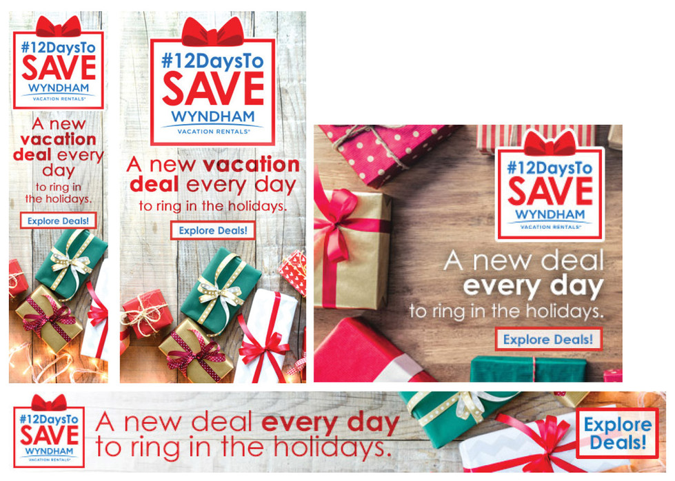 """""""12 Days to Save"""" National Wyndham Vacation Rentals Campaign"""