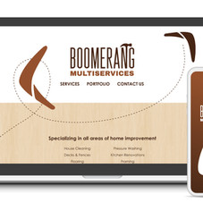 Boomerang Multiservices UI/UX designs