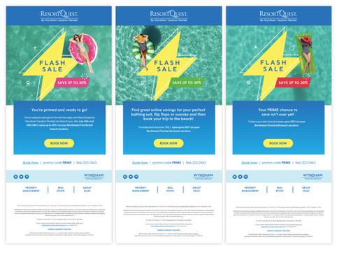 ResortQuest by Wyndham Vacation Rentals Email Blast Campaign