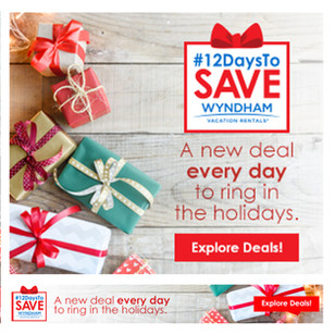 Wyndham Vacation Rentals Banner Ads for Holiday Promotion
